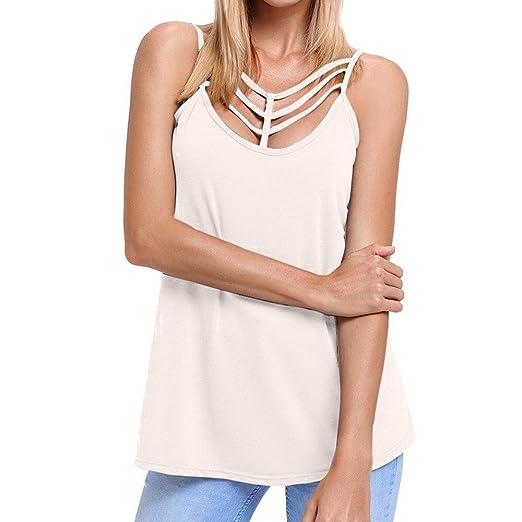 0839d441e8a Amazon.com: Casual Tank Top Dress,Women Summer Solid Caged Neckline ...