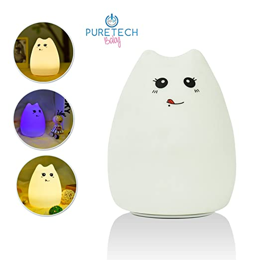 Baby Night Light; Molly The Friendly Kitten For Your Kids Nursery or Childrens Bedroom. Portable and Rechargeable. Add to Cart Now!