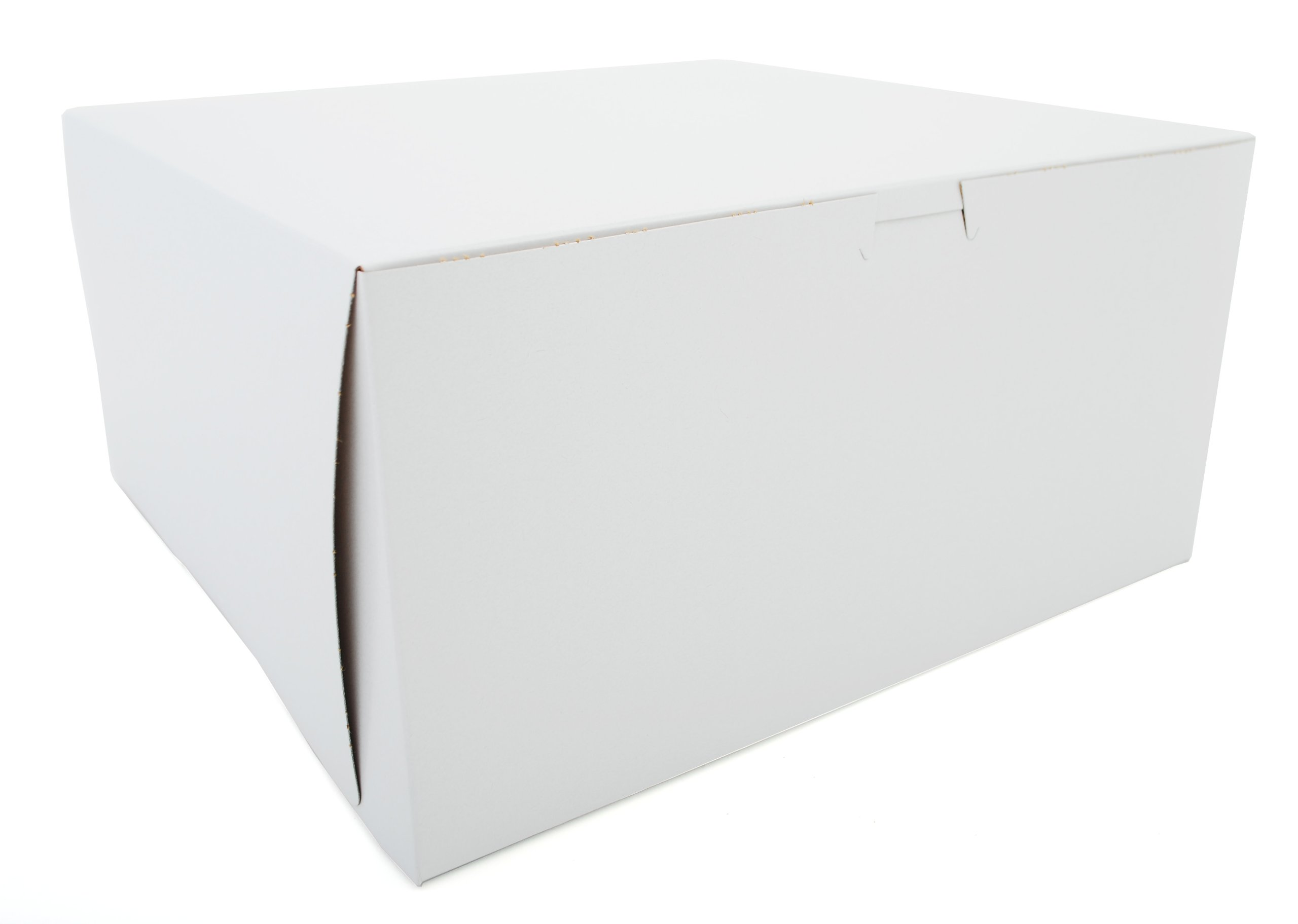 Southern Champion Tray 0989 Premium Clay-Coated Kraft Paperboard White Non-Window Lock Corner Bakery Box, 12'' Length x 12'' Width x 6'' Height (Case of 50)