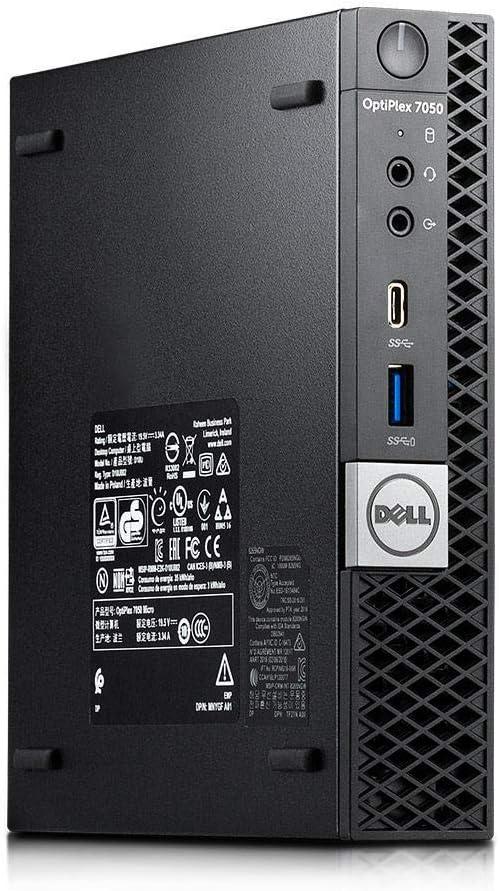Dell Optiplex 7050 Micro Form Factor Desktop, Intel i5 7500T 2.7Ghz, 16GB DDR4, 1TB Hard Drive, Wi-Fi, HDMI, Windows 10 (Renewed)