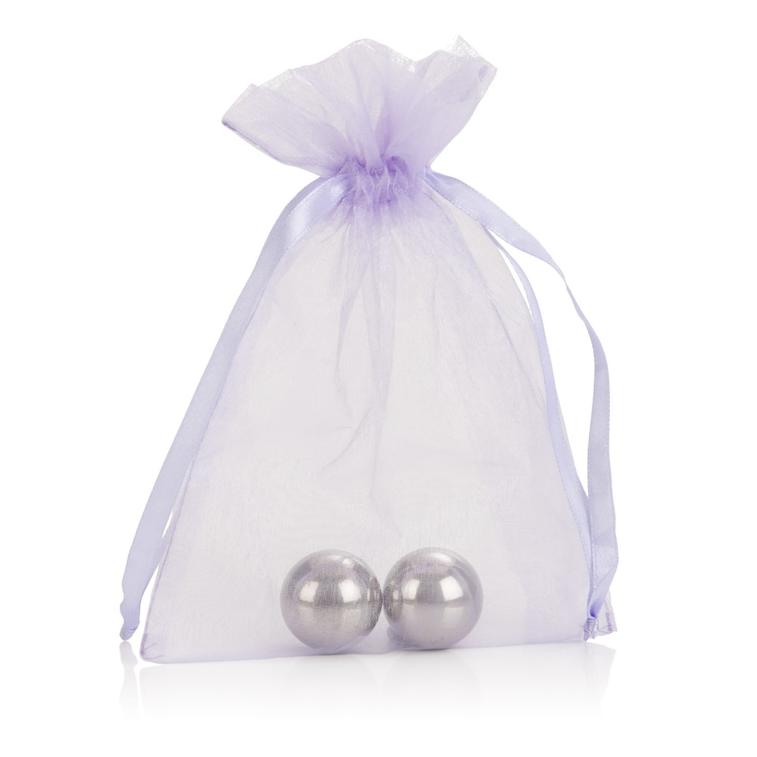 Amazon.com: CalExotics Weighted Orgasm Balls - Metallic Ben Wa Vaginal Kegel Weights - Pelvic Floor Exercise - Adult Sex Toys - Silver: Health & Personal ...