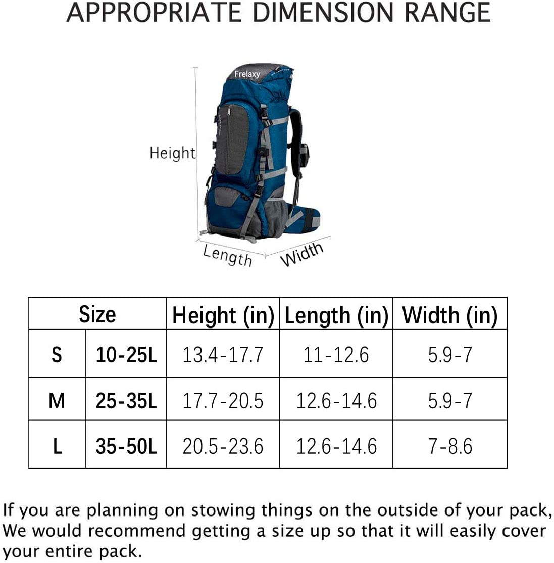Frelaxy Backpack Rain Cover Upgrade 2.0 Ultralight Backpack Cover 100/% Waterproof Biking Traveling for Hiking Anti-Slip Cross Buckle Strap Camping Storage Pouch