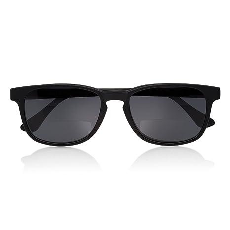 bifocales Gafas Gafas de Lectura para hombre magnético con sol Clip negro  Schwarz Matt +2 7a212418f7