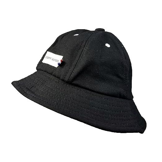 df6383eef1fed Unisex Small Labeling Black Basin Cap New Sun-Resistant Cap Fashion ...