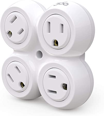 360 Electrical Revolve2.4  4 outlets Surge Protector  White