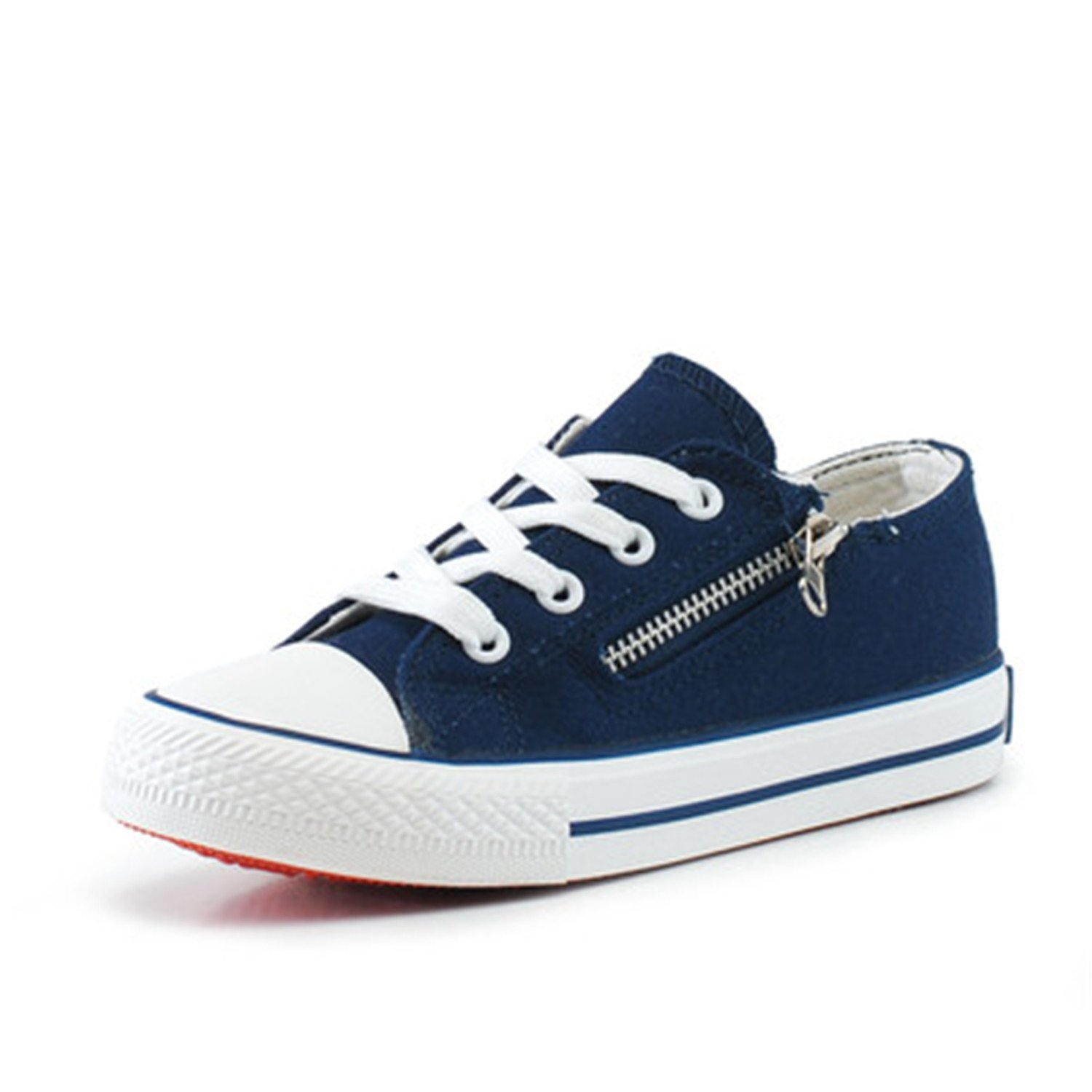 Wanyesta Kids Sneakers Spring Lace-up Canvas Shoes for Children Sport Breathable Denim Flat Sneakers