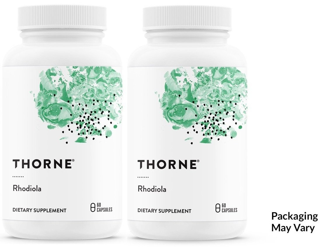 Thorne Reseach – Rhodiola Rosea – 2 of 60 Count Vegetarian Capsules Packaging May Vary