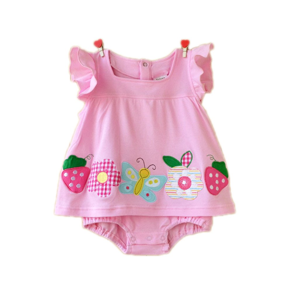 e6beb5f1d Amazon.com  Baby Girl Rompers Summer Infant Girls Clothing Sets ...