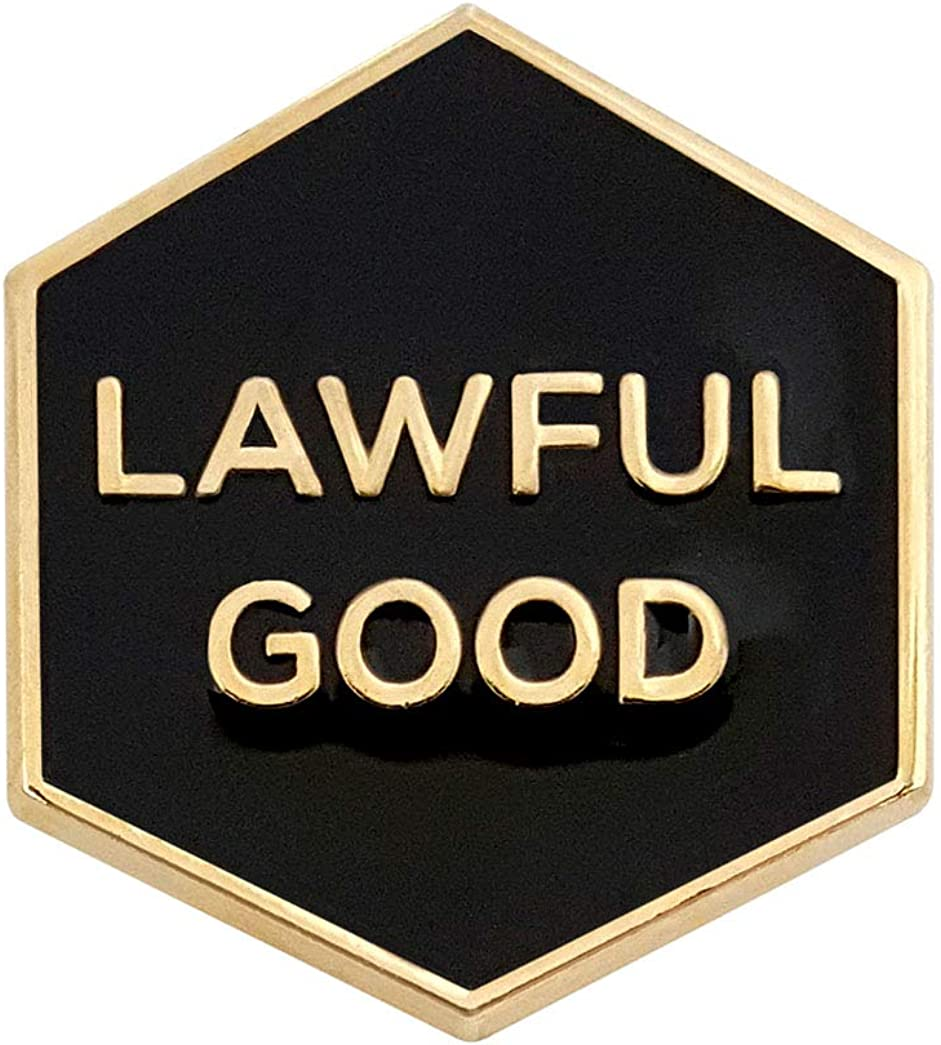 Pinsanity Lawful Good Enamel Lapel Pin