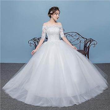AN Primavera y verano de estilo coreano hombro simple en las mangas novia de la boda