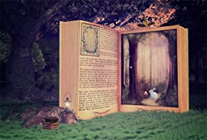 AOFOTO 10x7ft Fairy Tale Books Backdrop Enchanted Forest Girl Baby Shower Photoshoot Decorations Little Princess Birthday Party Background for Photography Photo Studio Props Vinyl