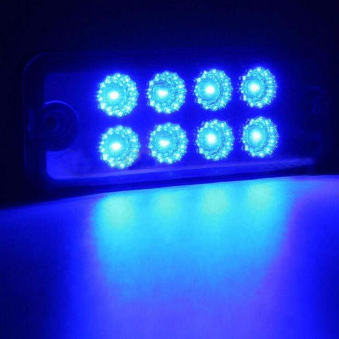 Bleu VIGORFLYRUN PARTS LTD 4Pcs Feux de Gabarit Lat/éraux 8 LED Feux De C/ôt/é pour 12V Remorque Camion Lorry Caravan Bus Indicateur de Position
