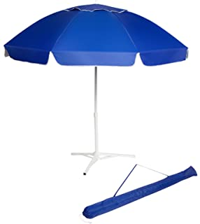 7 Portable Beach and Sports Umbrella with Triangle Base & Carrybag by Trademark Innovations (