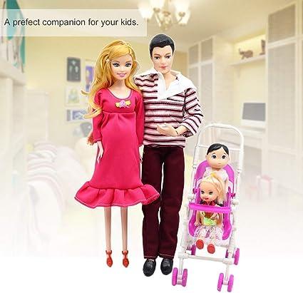 Dailyinshop 5 Personas Muñecas Traje Muñeca Embarazada Familia ...