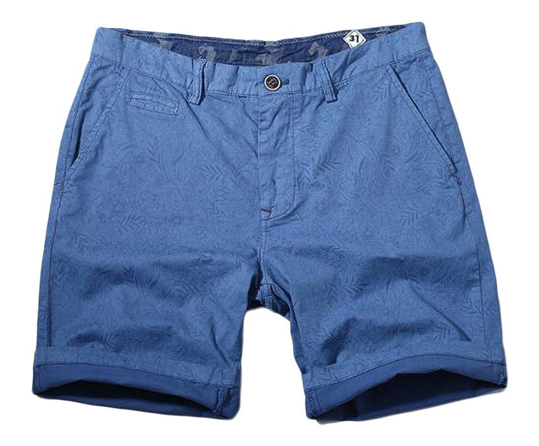 Etecredpow Men Drawstring Breathable Multi Pocket Comfy Straight Cargo Shorts