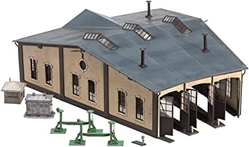 FALLER 120176 Ringlokschuppen 3-ständig Bausatz H0