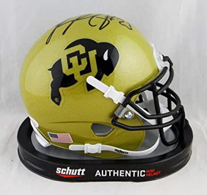 223cf0f6d Image Unavailable. Image not available for. Color  Phillip Lindsay Signed  Colorado Buffaloes Schutt Mini Helmet- W Auth  Black - JSA Certified