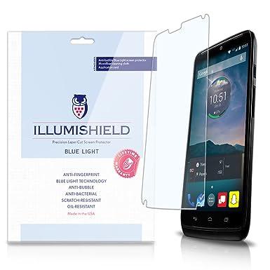 illumishield - Motorola Droid Turbo pantalla HD luz azul UV filtro y filtro de/alta
