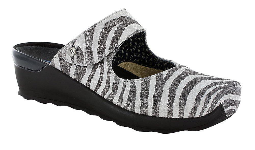 Wolky Comfort Clogs Up Off Weiß Zebra Perlato