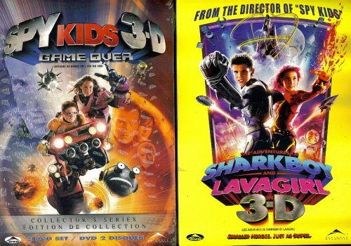 Spy Kids 3-D Game Over - The Adventures Of Sharkboy And Lava Girl In 3-D - 2 SEPERATE DVD - KIDS ACTION & ADVENTURE SET