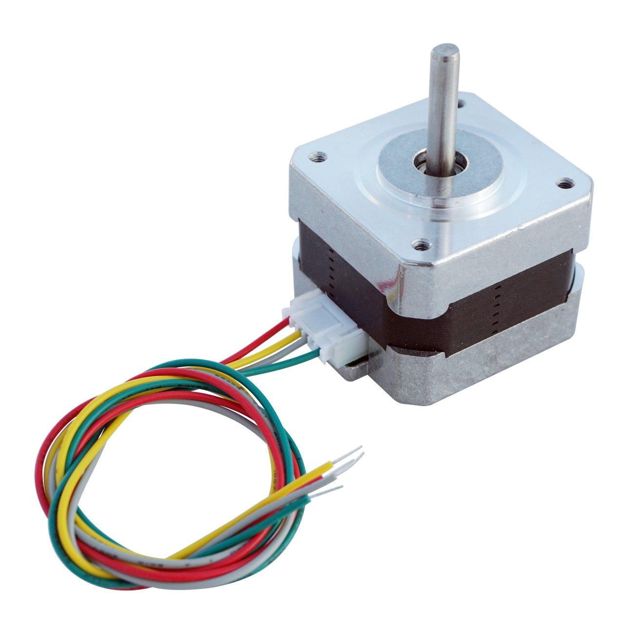 Stepper Motors Nema 17 Kit 12v For Cnc Reprap 3d Printer 4 Wire Motor Wiring Harness 368ozin 04a Beauty