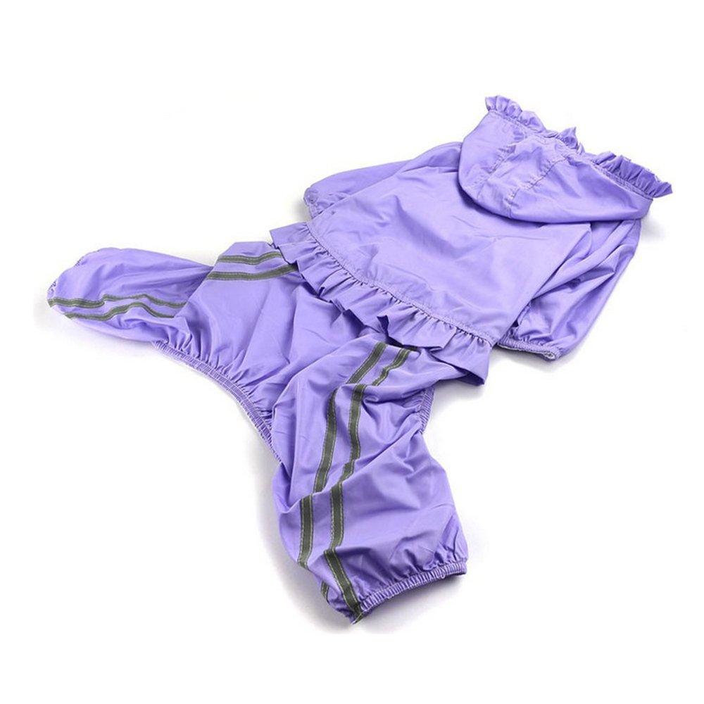 Purple Large Purple Large Waterproof Dog Coat Four Feet Summer Kim Samovar Large Dog Pet Waterproof Clothing Poncho,Purple-L