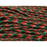 100FT Type III Holly Jolly Paracord 550 Parachute Cord 7 Strand Made In USA by PEPPERLONELY