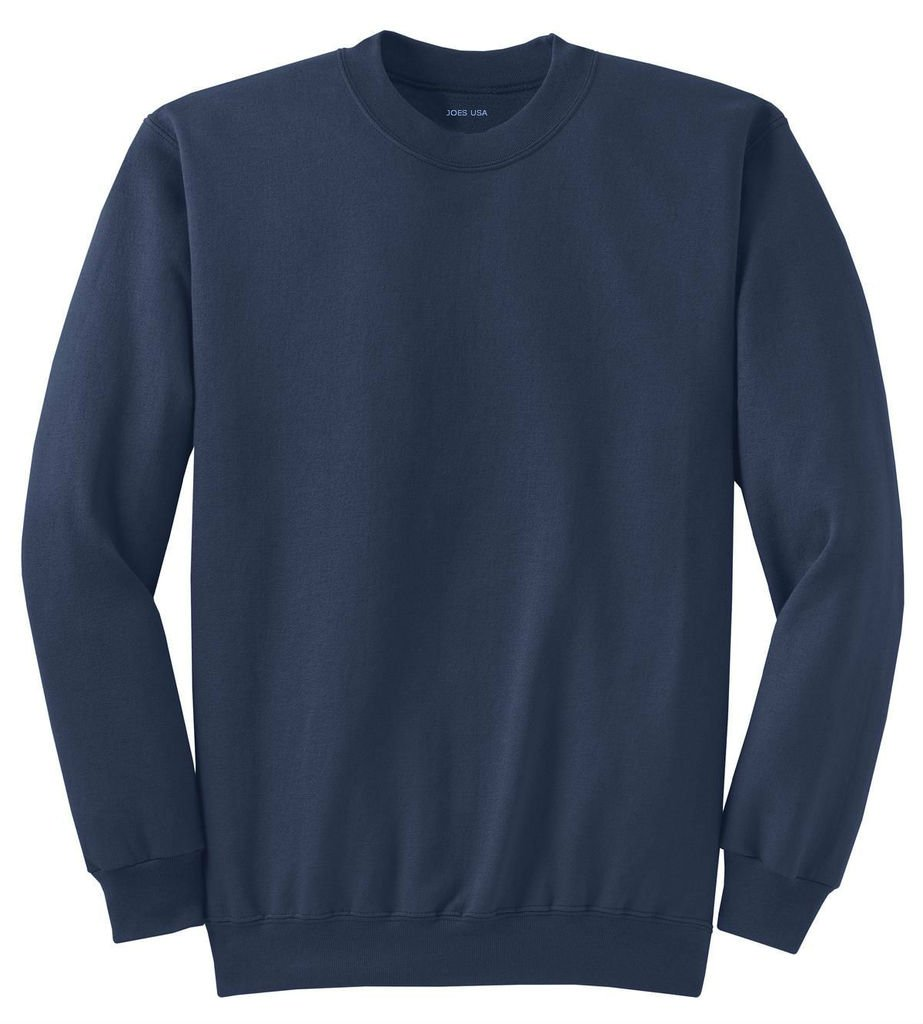 Joe's USA tm- Men's Tall Ultimate Crewneck Sweatshirt-Navy-2XLT