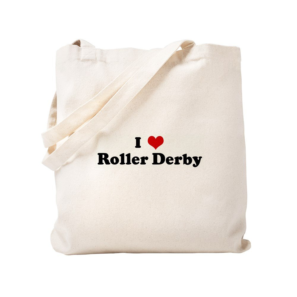 CafePress - I Love Roller Derby - Natural Canvas Tote Bag, Cloth Shopping Bag