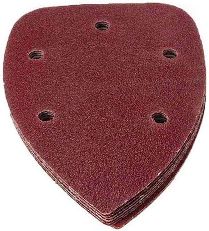 KingBra 40 Grit Mouse Detail Sander Sandpaper 5 Holes Sander Pads Hook and Loop Sanding Sheets, Pack of 30
