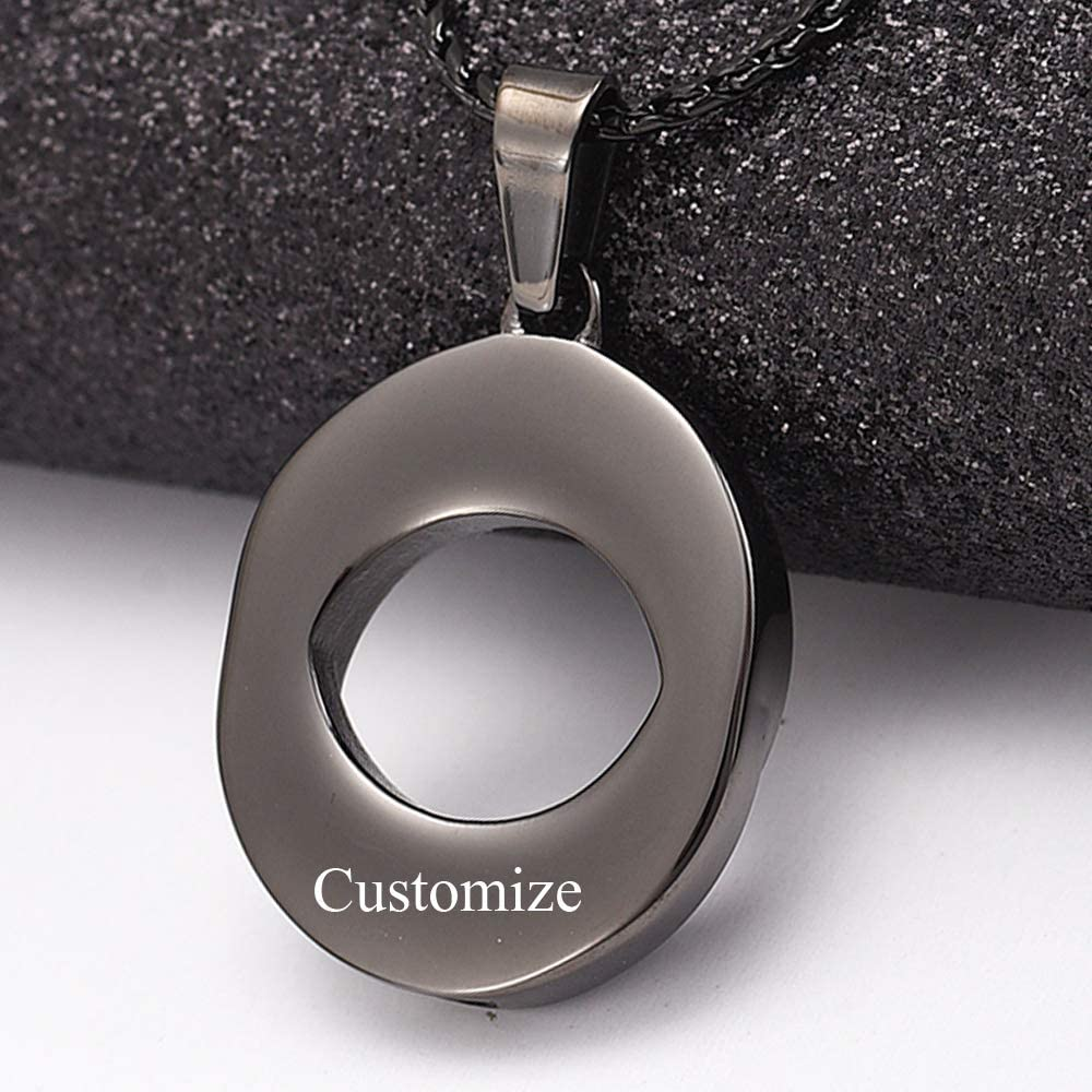 Imrsanl Cremation Jewelry for Ashes Pendants Stainless Steel Urn Necklace for Ashes Keepsake Memorial Ash Jewelry,Circle of Life Ashes Pendant