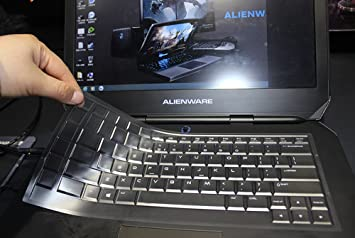 Ultra Thin Silicone Keyboard Cover for 15.6 Dell Alienware 15 R2 R3,Alienware AW15R3 ,Alienware AW15R4 Gaming Laptop White Leze 2015-2018 Version