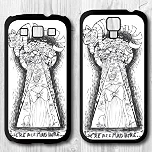 Alice In Wonderland Protective Cover Case For Samsung Galaxy S4 S3 ( We Are All Mad Here) hjbrhga1544