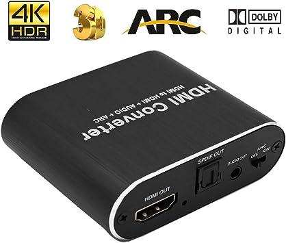 HDMI 3,5 mm Stereo Audio Extractor Converter für Audioübertragung ARC