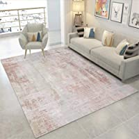JIFAN Simple Modern Rug Girl Pink Gray Carpet Abstract Ink And Wash Art Rug Nordic Home Non-slip Carpet For Hallways, Living Room & Bedroom (Size : 80 * 120cm)
