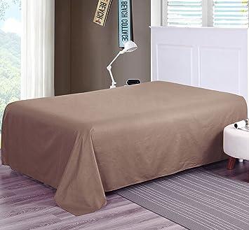 XIXI Schlafzimmer Wohnung Blatt Einfache Studentenheim Einzelbett 165X220Cm  Grau Braun Weiß,Braun
