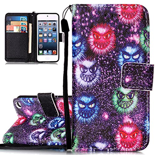 Cover iPod touch 5/6 ISAKEN Drawing Pattern Design Elegante borsa Custodia in Pelle PU per iPhone iPod touch 5/6 Sintetica Rigida Case Cover Protettiva Flip Portafoglio Case Cover Protezione Caso con