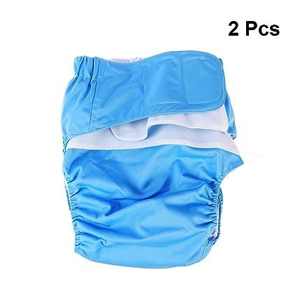 HEALIFTY Pañales para adultos Incontinencia reutilizable Pantalones Protección interior para pacientes 2pcs