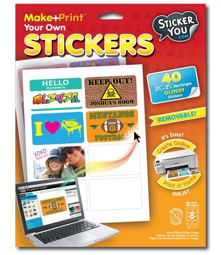 Amazoncom StickerYou MakePrint Rectangle X Glossy - Print your own stickers