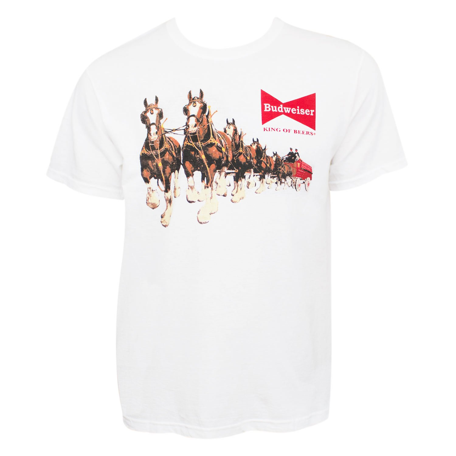 Budweiser Clydesdales Tee Shirt White