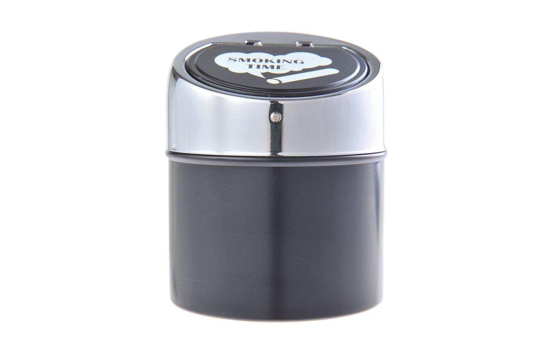 avec linscription Smoking Time Mod 982BC-01 The Khan Outdoor /& Lifestyle Company Cendrier Fait en Alliage de Zinc et Cuir DE Temps pour Fumer Couleur: Noir//m/étal Poli