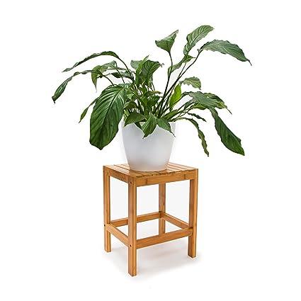 Relaxdays Tabouret En Bambou Table Pour Plantes Tabouret Salle De