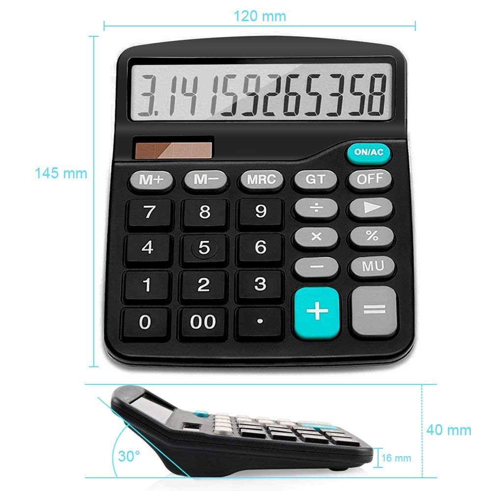 Jumbo Desktop Calculator Big Buttons Solar Battery Memory Office School UK SALE
