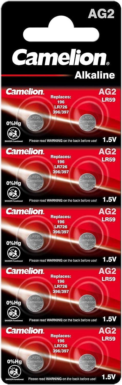 10x Camelion AG13 Uhrenbatterien Alkaline Knopfzellen Quicksilberfrei Batterien
