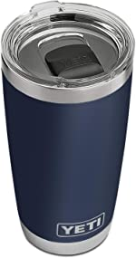 YETI Rambler 20 oz Tumbler, Stainless Steel, Vacuum Insulated with MagSlider