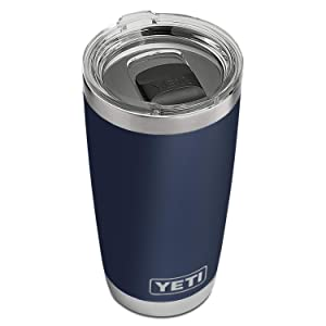 YETI Rambler 20 oz Stainless Steel Vacuum Insulated Tumbler w/MagSlider Lid, Navy