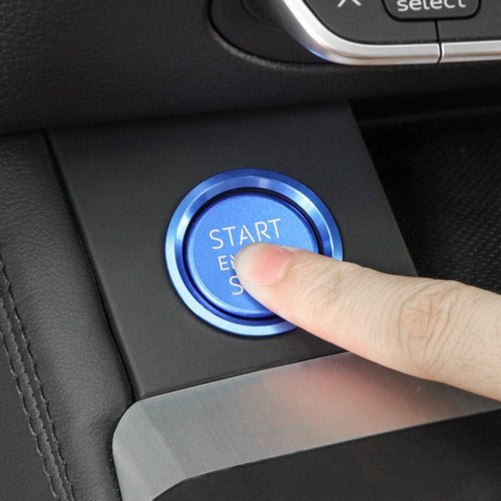Convient pour Audi A4 A5 B9 2017 2018 A6 A7 C7 2011-2017 Q5 8R 2009-2017 Bebliss Moteur Moteur De Voiture Bouton Darr/êt Bouton De Couverture Syst/ème De Protection Autocollant Stylo Bague
