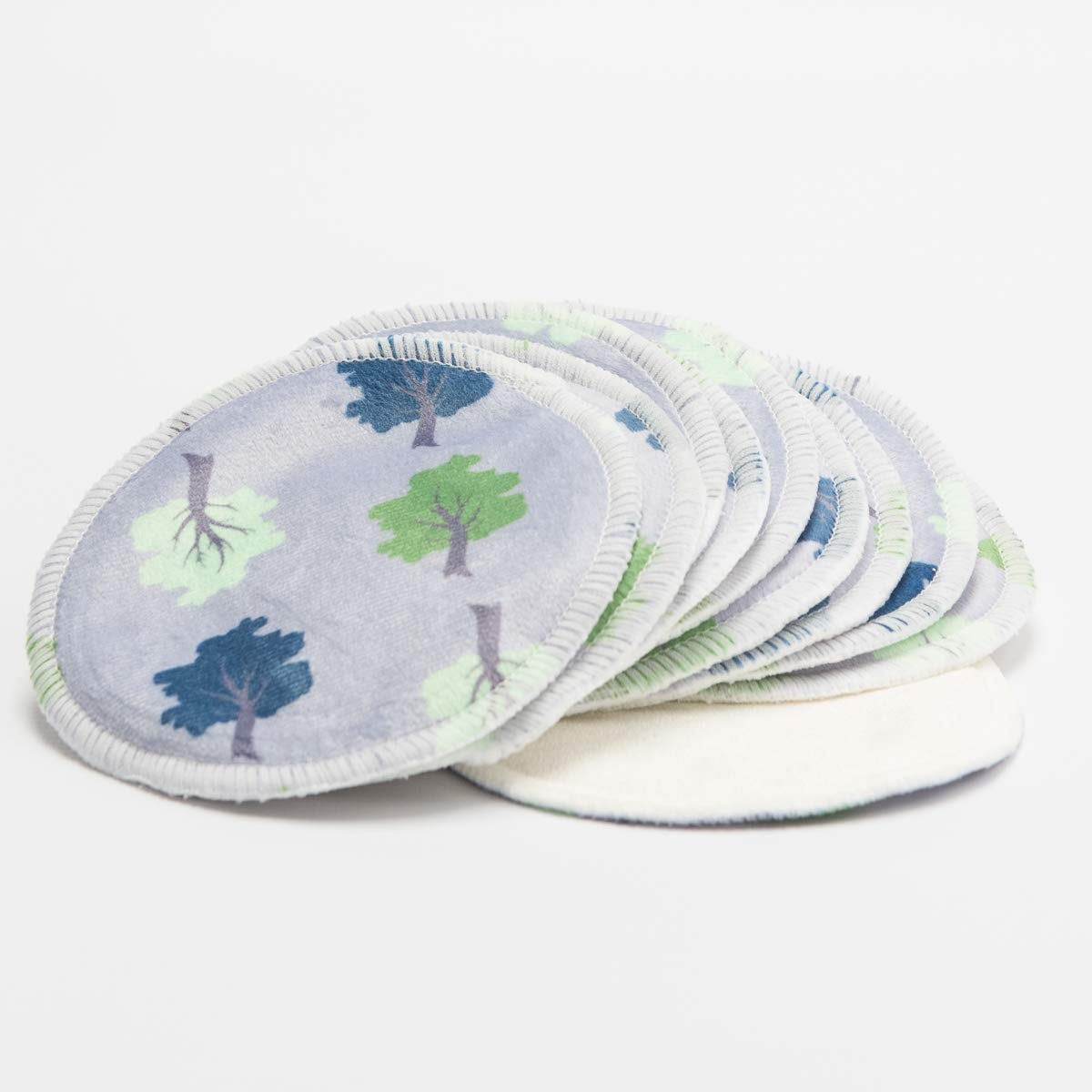 Luxury Triple Layer Make-up Removing Pads in Bamboo & Minky - Pack of 10 (Pink Dragonfly & Birds) Cheeky Mama
