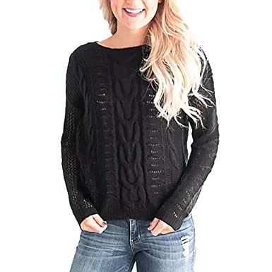 aaef2fc6bc0 Mounter-Tops Women Knitwear, Plus Size Long Sleeve O Neck Sweater ...