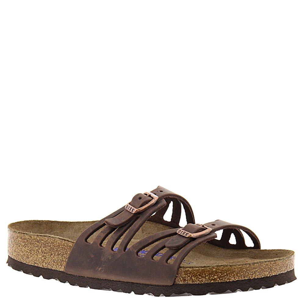 Birkenstock Women's Granada Soft Footbed Sandal,Habana Oiled Leather,38 M EU